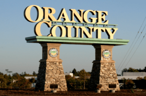 Orange County Sign in Orange County, Ca
