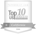 Top 10 Verdicts California 2016